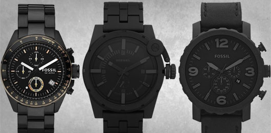 9 Beautiful Black On Black Watches Primer