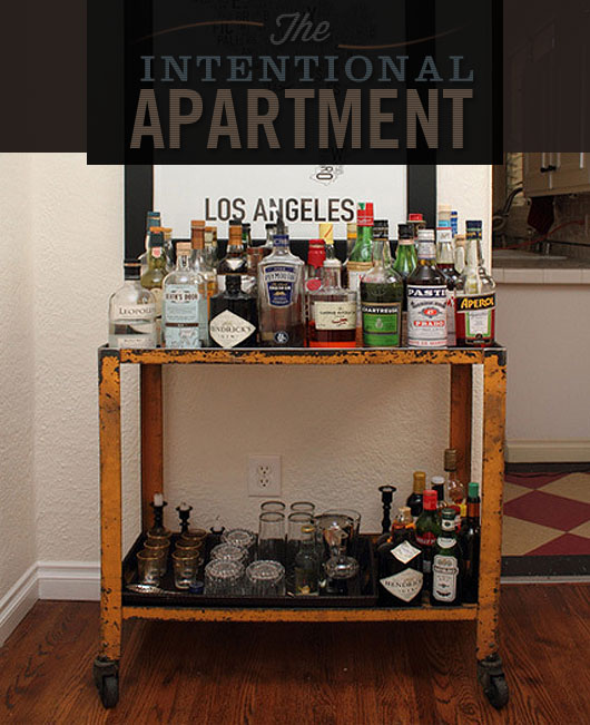 The Intentional Apartment Assembling the Perfect Bar Cart  Primer