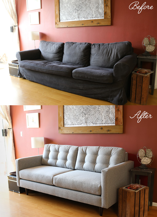 reupholster leather sofa best pull out win $500 toward a new or apartment makeover from ...
