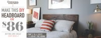 Make Your Own Wood Headboard - Home Design
