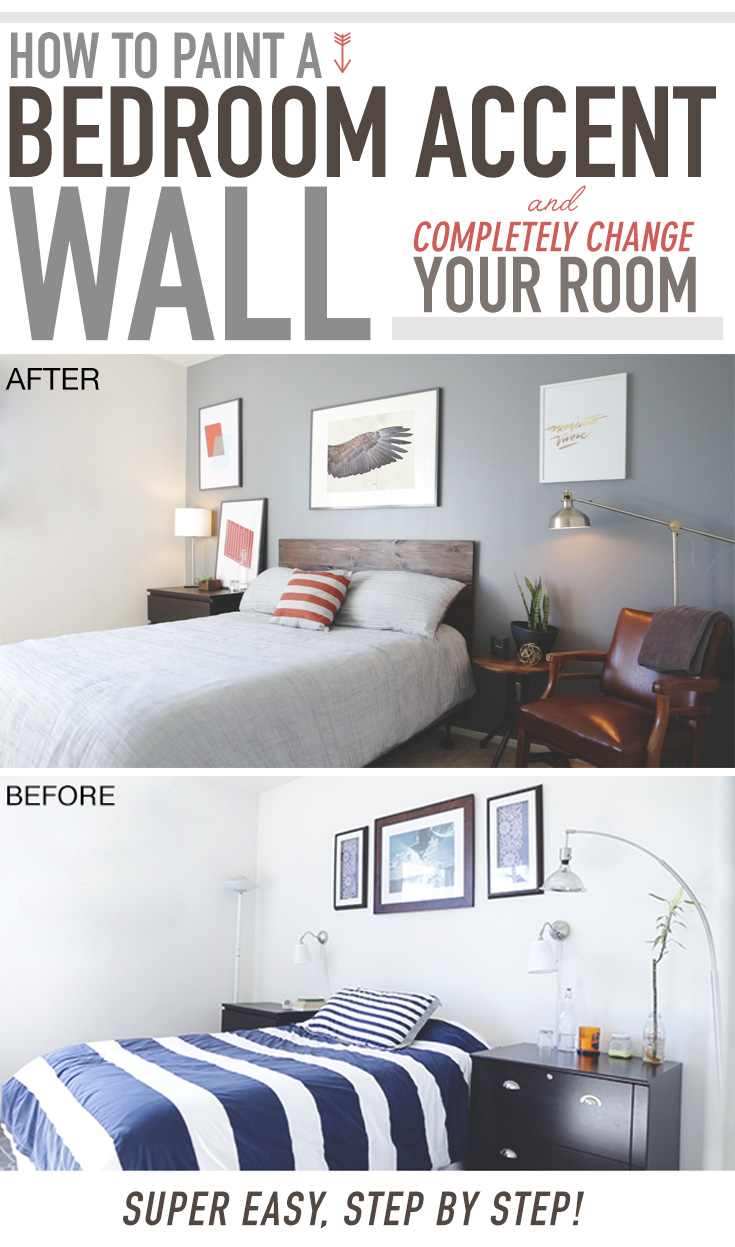 How to Paint a Bedroom Accent Wall and Completely Change