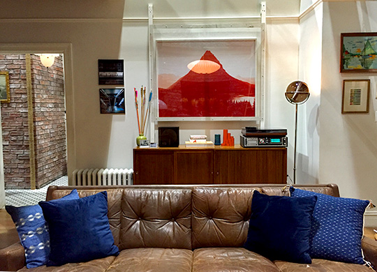 modern brown leather sofa table designing dev's apartment from master of none: an ...