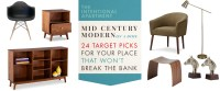 Mid Century Modern On A Dime: 24 Target Picks For Your ...