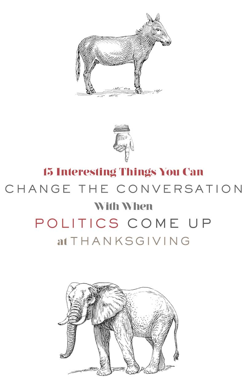 15 Interesting Things You Can Change the Conversation With