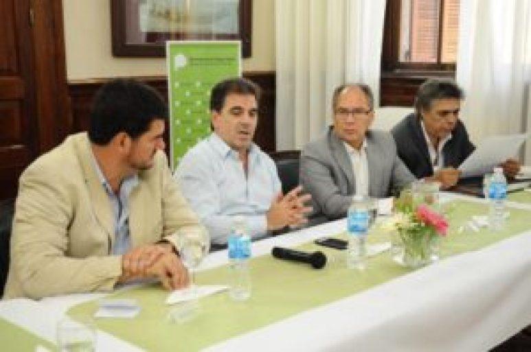 Burzaco, Ritondo, Descalzo y Almeida durante el encuentro del jueves pasado en La Plata