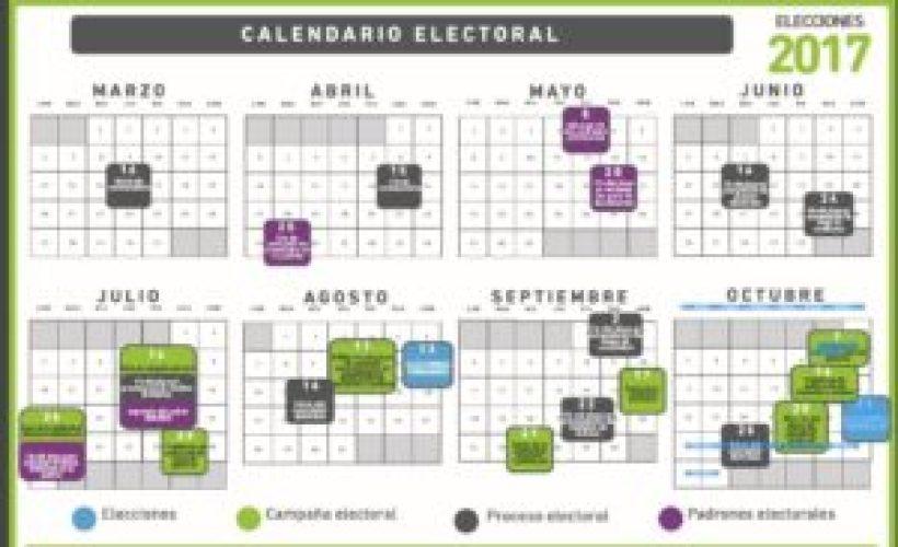 Calendario electoral completo