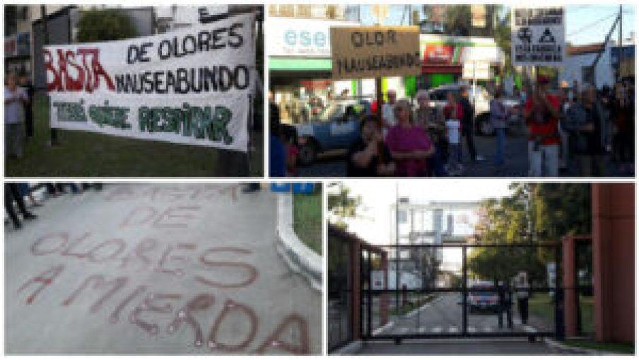 Marcha contra fábrica Rousselot