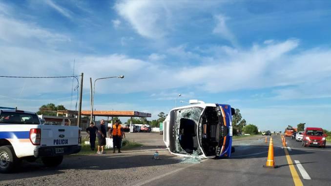Accidente del minibus en Chivilcoy