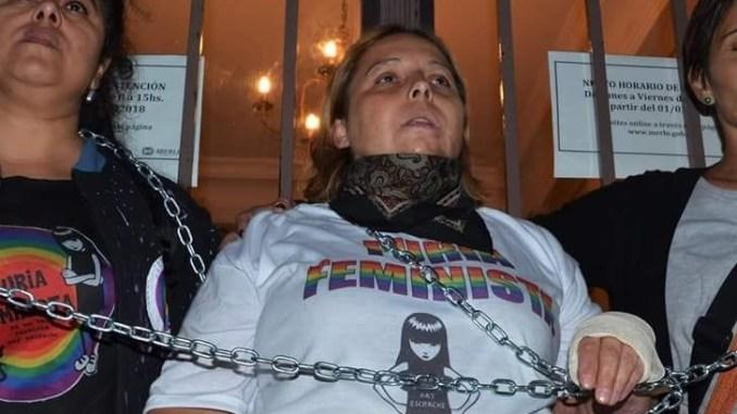 Detenida Karina Abregú