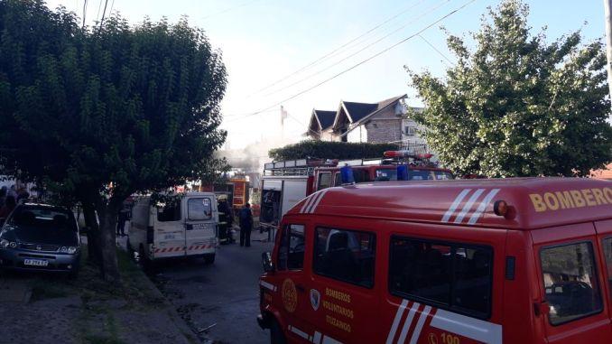 Incendio en autoservicio de Ituzaingó