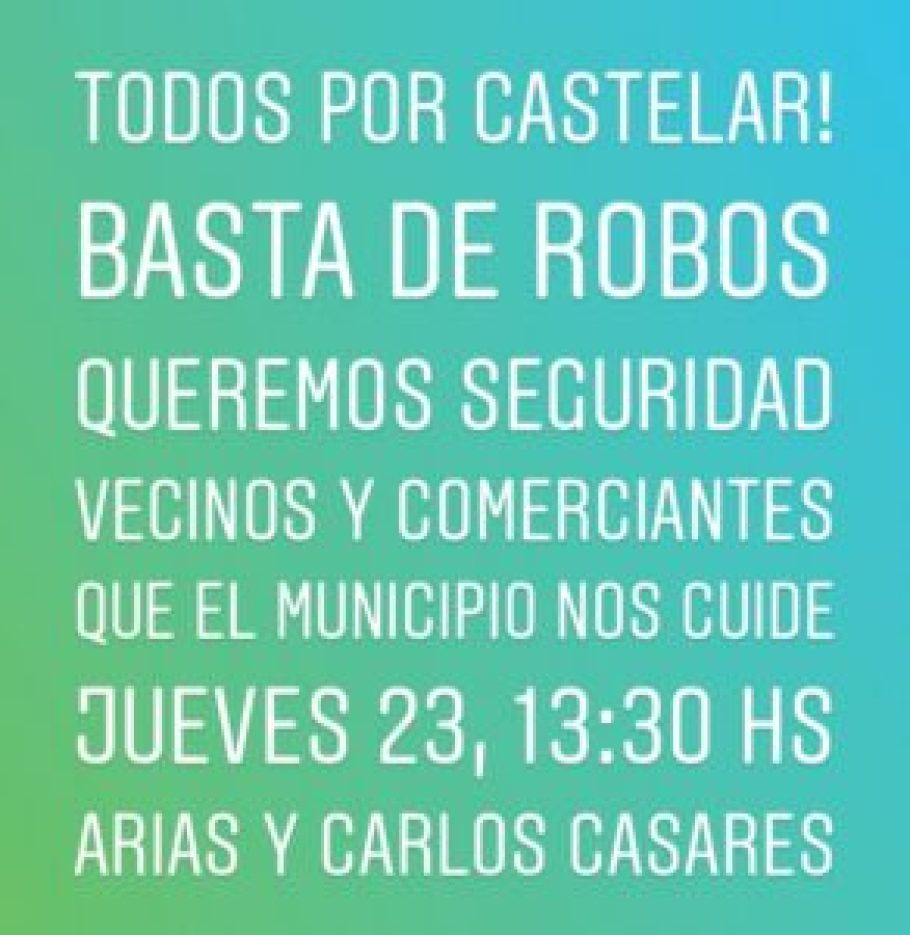 Marcha en Castelar
