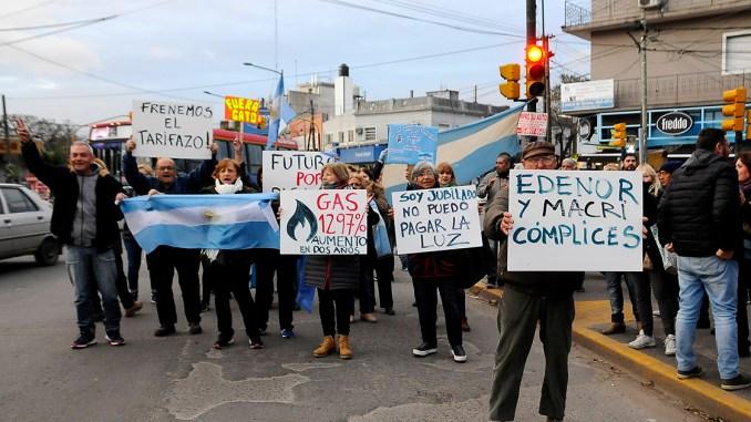 Protesta en cinco esquinas