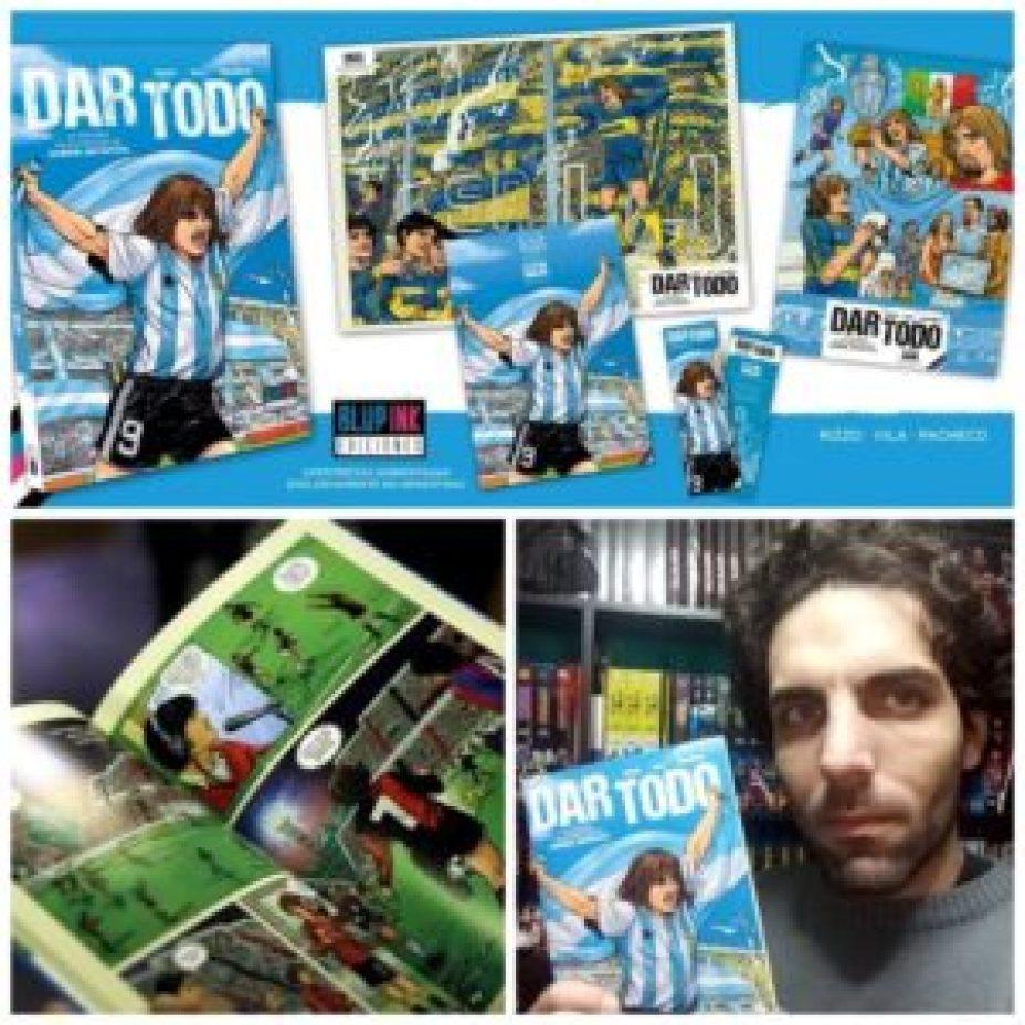 Postales de 'Dar todo', junto a su ideólogo, el guionista Sebastián Rizzo.