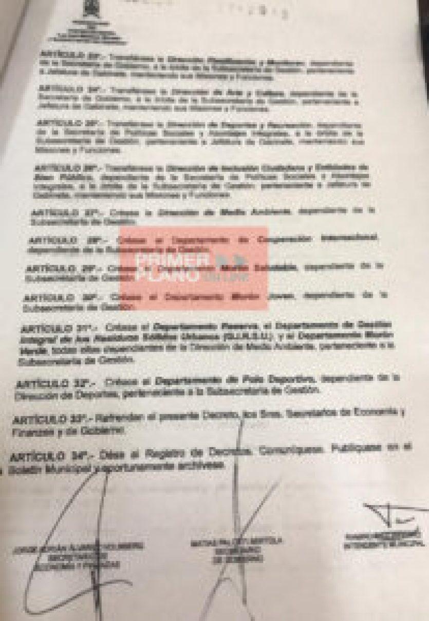 Decreto de Tagliaferro hoja 2