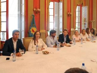 Vidal con diputados
