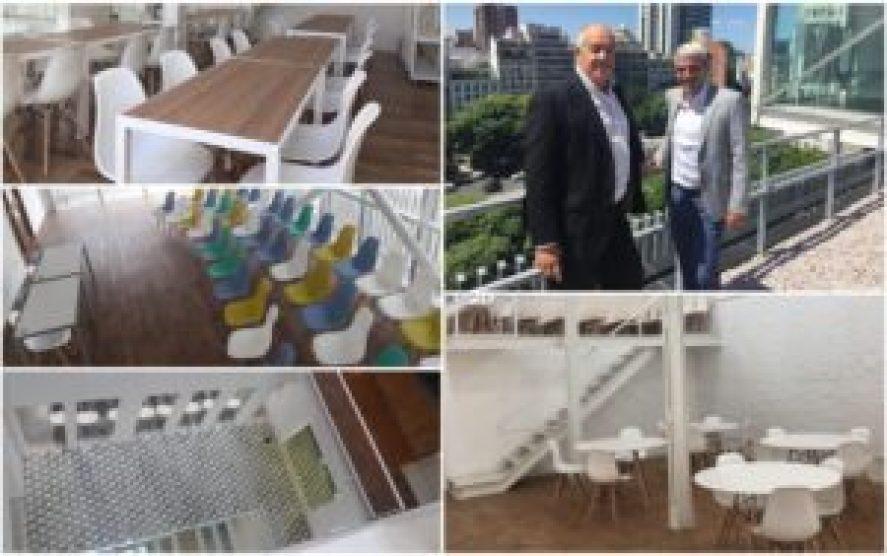 El rector de la UM, Norberto Porto Lemma y el secretario general Pablo Navarro, presentan en sociedad las instalaciones del flamante edificio que comienza a funcionar en pocos días