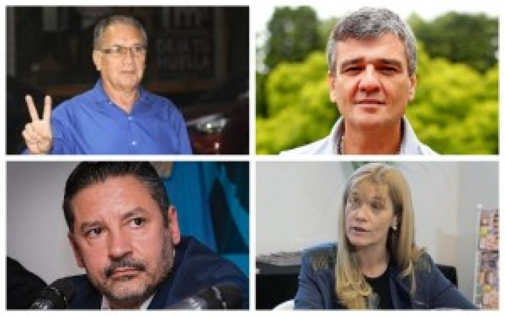 Intendentes peronistas del oeste: Descalzo, Zabaleta, Menéndez y Magario