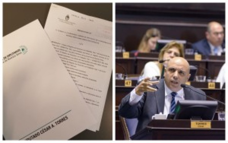 César Torres, diputado provincial por Cambiemos,el el autor de la iniciativa