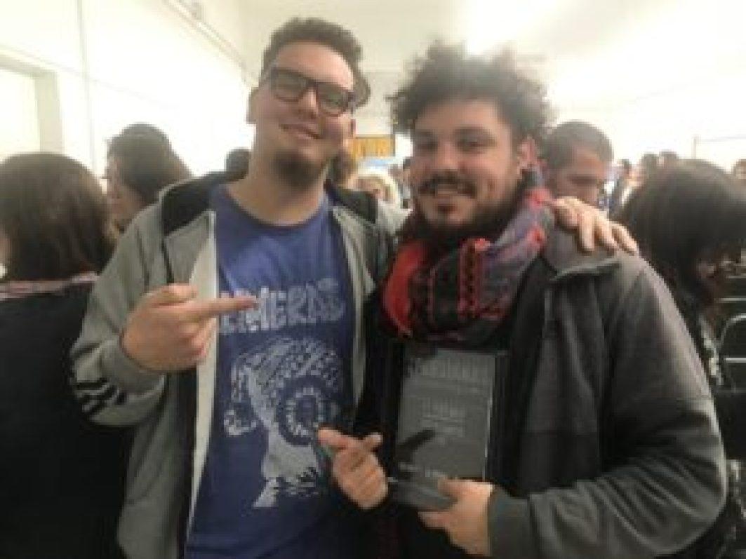 Inti y Lucas Santos, artífices de la obra seleccionada por el jurado como la mejor del concurso