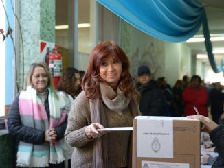Votó CFK