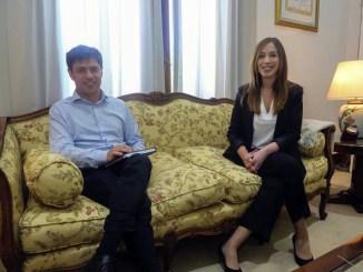 Kicillof con Vidal