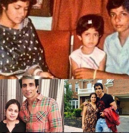 Sonu Sood With his Sister