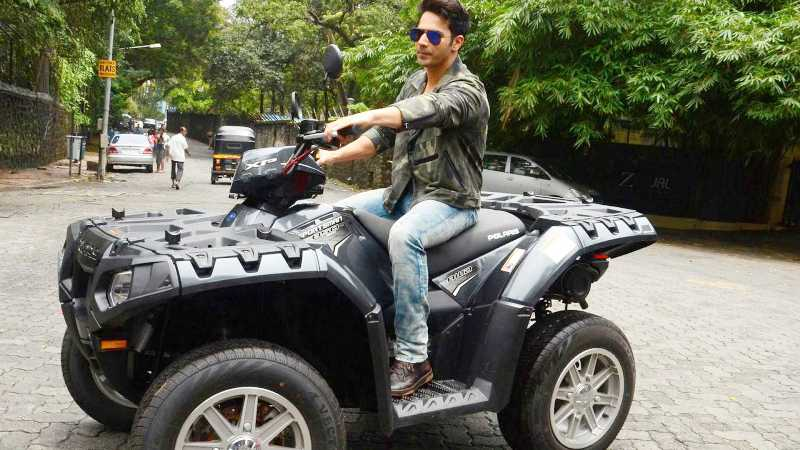 Varun Dhawan on His Polaris Sportsman 850 (quad bike)