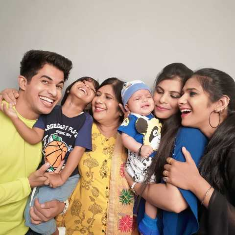 Aadil Khan With His Sister