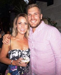 Aaron Finch With Amy Griffiths