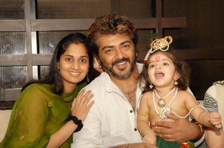 Ajith Kumar With His Son