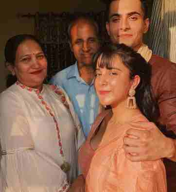 Anirudh Sharma With His Family