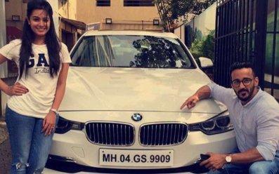 Anita Hassanandani With Her Car
