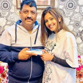 Anjali Arora With Her Father
