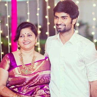 Atharvaa With His Mother