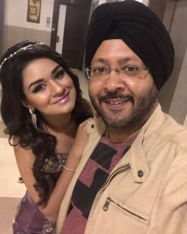 Avneet Kaur With Her Father