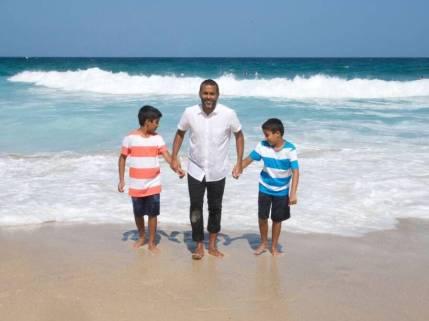 Chetan Bhagat With His Son