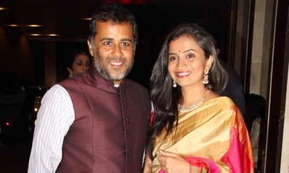 Chetan Bhagat With His Wife
