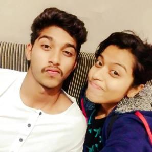 Darshan Nalkande With His Sister