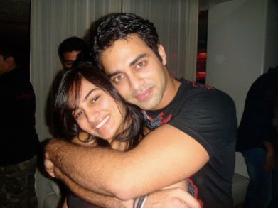 Navdeep With His Sister