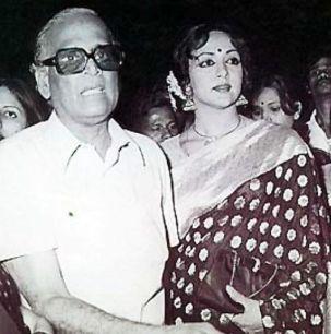 Hema Malini With Her Father