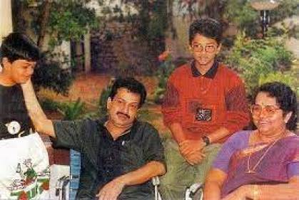 Indrajith Sukumaran With His Father And Mother