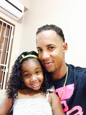 Lendl Simmons With His Daughter