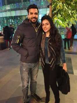 Manit Joura With His Sister