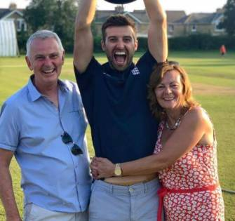 Mark Wood With His Father And Mother