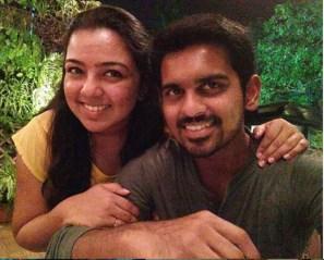 Murugan Ashwin With His Wife