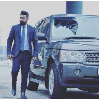 N. T. Rama Rao Jr With His Car