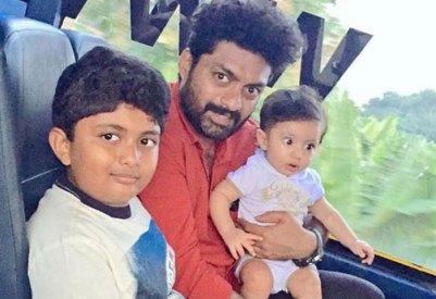 Nandamuri Kalyan Ram With His Children