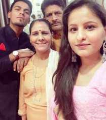 Rahul Chahar With Family