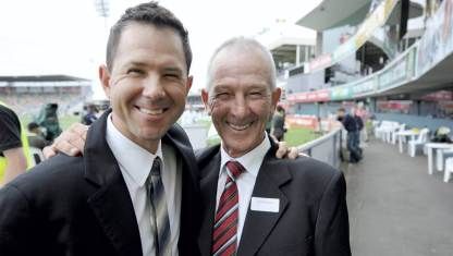 Ricky Ponting With His Father
