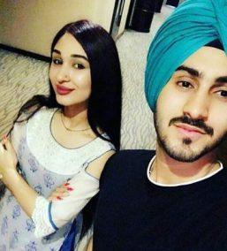 Rohanpreet Singh With Mehrnigori Rustam